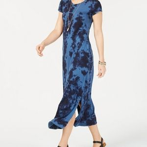 Style & Co. Navy Tie Dye Maxi Dress